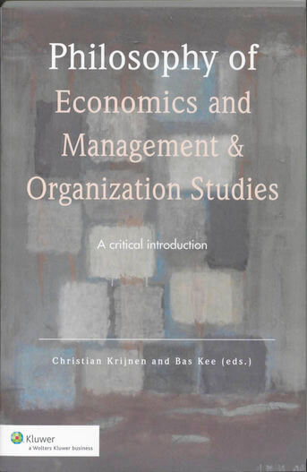 Philosophy of economics and management & organization studies