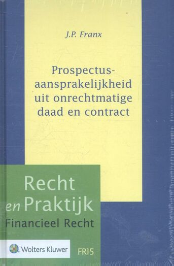 Prospectusaansprakelijkheid