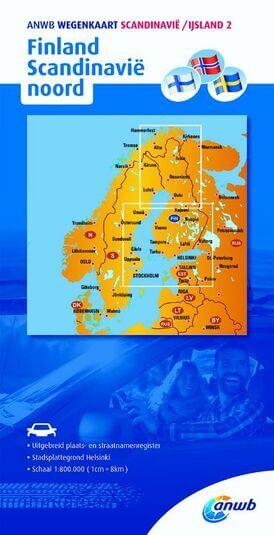 ANWB wegenkaart Scandinavië / IJsland 2 Finland Scandinavië noord