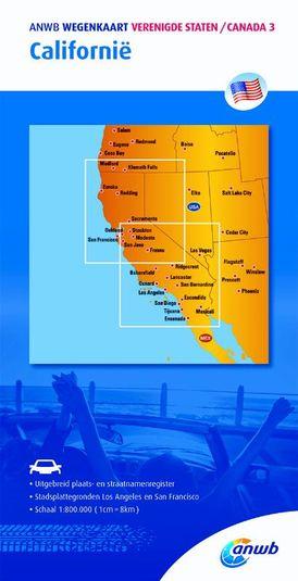 ANWB wegenkaart Verenigde staten/Canada 3. Californië