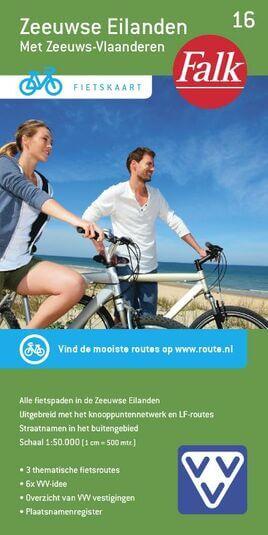 Falk VVV fietskaart 16 Zeeuwse Eilanden met Zeeuws-Vlaanderen 2016-2018, 11e druk