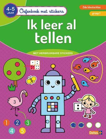 Oefenboek met stickers - Ik leer al tellen (4-5 j.)