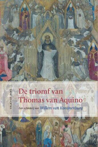 De triomf van Thomas van Aquino.  een schilderij van Willem van Konijnenburg
