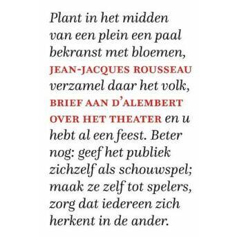 Brief aan d'Alembert over het theater