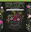 Chalk letteren Botanica kleurboek