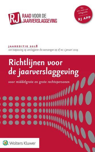 Richtlijnen voor de jaarverslaggeving 2018