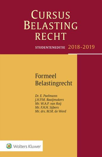 Cursus Belastingrecht Belastingrecht 2018-2019