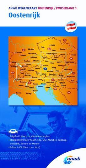 Wegenkaart 1. Oostenrijk