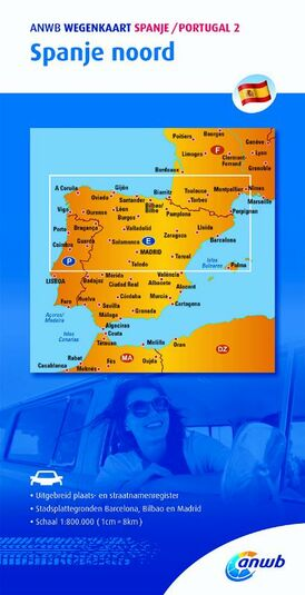 ANWB wegenkaart Spanje Portugal 2. Spanje noord