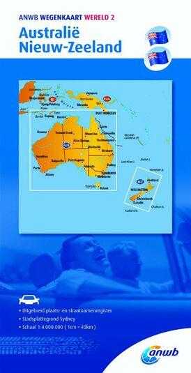 ANWB wegenkaart Wereld 2. Australië/Nieuw-Zeeland