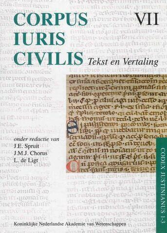 Corpus Iuris Civilis VII; Codex Justinianus 1 - 3