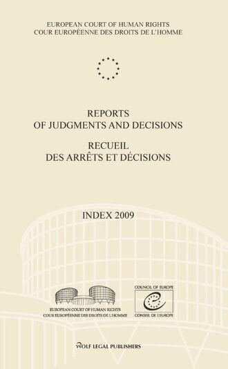 Reports of judgments and decisions / recueil des arrets et decisions