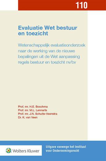 Evaluatie Wet bestuur en toezicht (e-book)